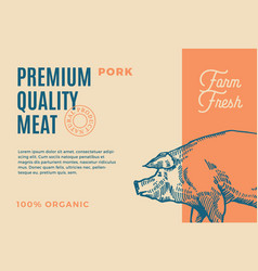 premium quality pork abstract meat vector image