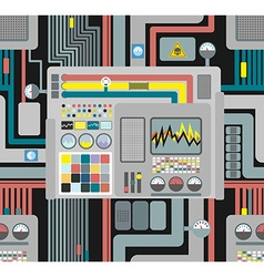 Production system Control Panel seamless pattern vector