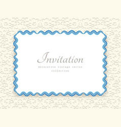 rectangle frame with wavy paper border pattern vector image