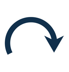 Return arrow symbol vector