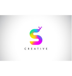 S colorful logo letter design creative rainbow vector
