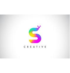 s colorful logo letter design creative rainbow vector image