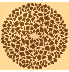 Seamless giraffe fur background vector image
