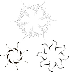Simple Floral Frames vector