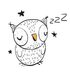 Sleeping Owl vector
