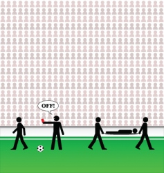 soccer pictogram vector image