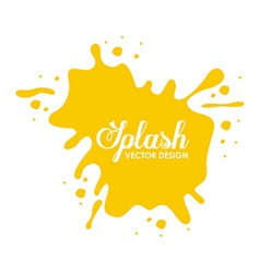 splash concept design vector image