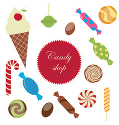 Sweet candy shop vector
