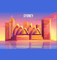 Sydney city skyline australia world famous symbol vector
