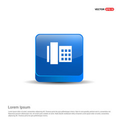 telephone icon - 3d blue button vector image