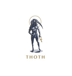 The egyptian god thoth vector