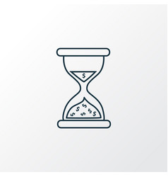time is money icon line symbol premium quality vector image