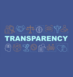 Transparency word concepts banner vector