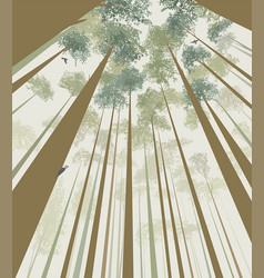 trees pierce the sky vector image