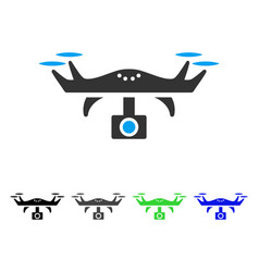 video spy copter flat icon vector image