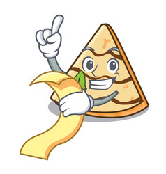 with menu crepe mascot cartoon style vector image