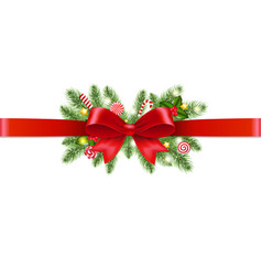 xmas garland transparent background vector image