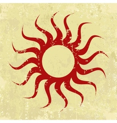 Abstract grunge background with sun vector image