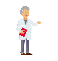 doctor or scientist in white coat flat vector image