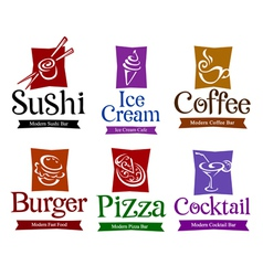 food and drink design vector image vector image