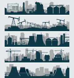 industrial skyline set vector image