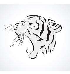 tiger side vector image vector image