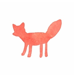 Watercolor fox on the white background aquarelle vector image vector image