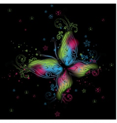 abstract butterfly background vector image