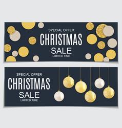 abstract christmas sale vector image