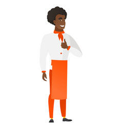 chef cook giving thumb up vector image