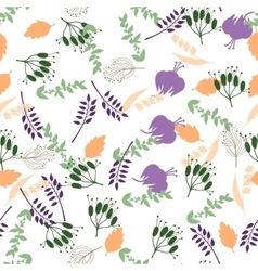 Floral seamless pattern with flowers and leaves vector image