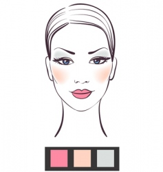 makeup template vector image vector image
