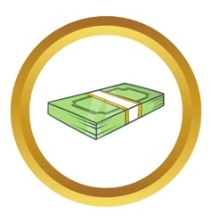 Packed dollars money icon vector