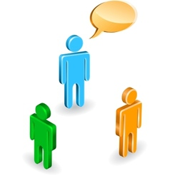 People discussion vector image vector image
