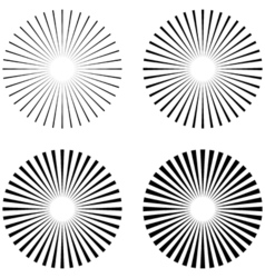 Set Rays beams element vector image
