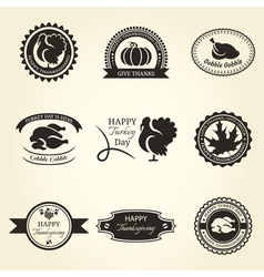 Thanksgiving backgrounds vector image