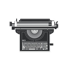 abstract drawing of a typewriter a laptop vector image vector image
