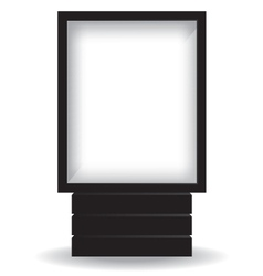 City light black billboard vector image vector image