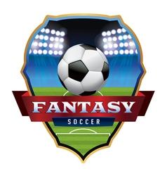 Fantasy Soccer Badge vector image vector image