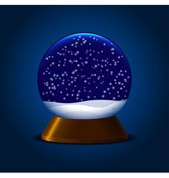 Magic snowball vector image