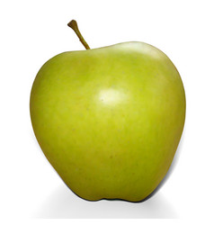 realistic mesh green apple vector image