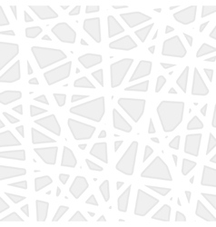 White geometric background vector