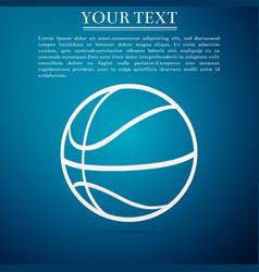 basketball ball on blue background sport symbol vector image