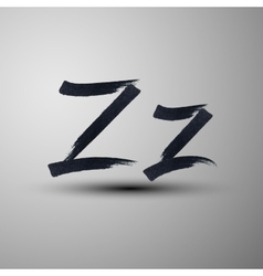 calligraphic hand-drawn marker or ink letter Z vector image