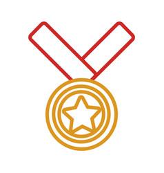 golden medal design vector image