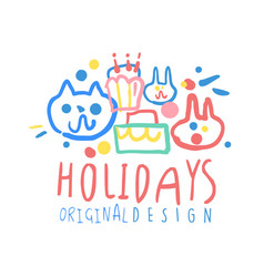 holidays original design logo template colorful vector image vector image