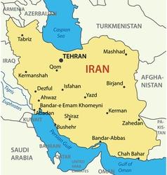 Islamic Republic of Iran - map vector image vector image