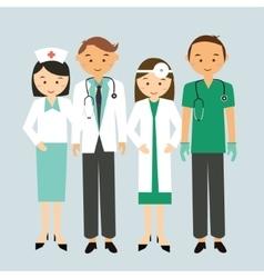 medical team doctor nurse group worker standing vector image