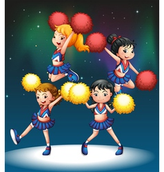 The four cheerdancers vector image vector image