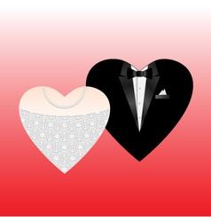 wedding hearts vector image vector image
